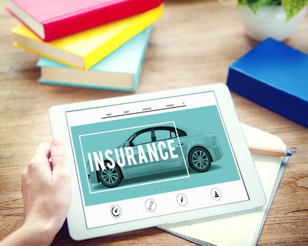 Car Insurance Accident Claim Risk Defense Drive Concept Foto de archivo