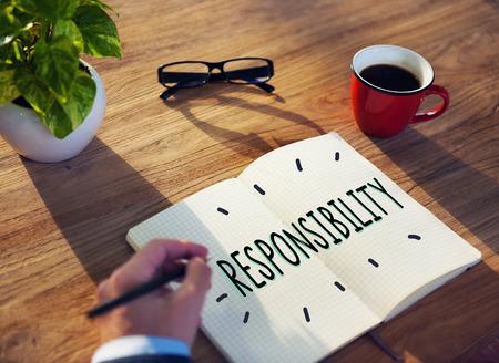 responsibility: Responsibility Obligation Duty Roles Job Concept Stock Photo