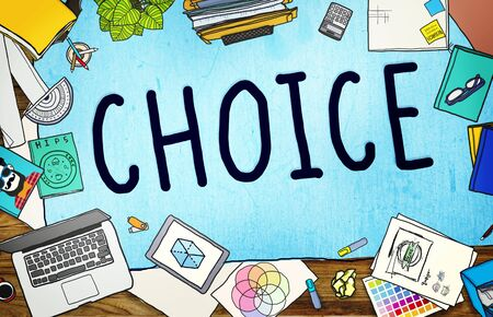 printer drawing: Choice Chance Opportunity Decision Alternative Concept