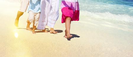 leisure activities: Family Beach Enjoyment Holiday Summer Leisure Concept