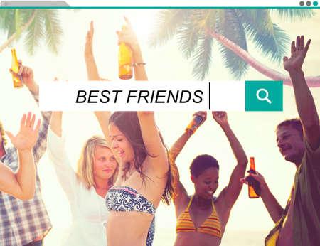 mejores amigas: Mejores amigos Amistad Buscando Box Concept