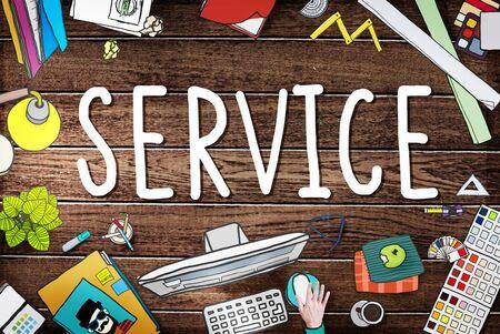 service desk: Service Support Satisfaction Consumerism Concept