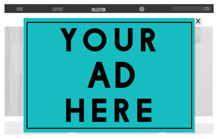 ad: Your Ad Here Marketing Advetising Commercial Concept