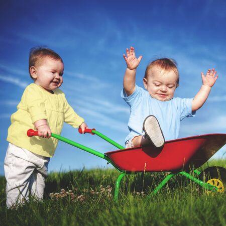 enjoyment: Babies Toddlers Enjoyment Fun Playing Concept