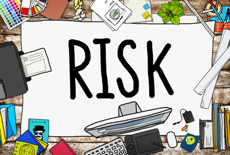 dangerous work: Risk Management Investment Finance Security Concept Stock Photo