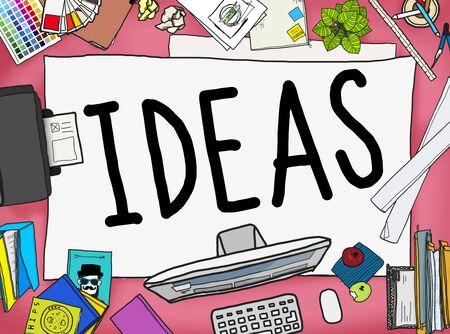tactics: Ideas Creative Strategy Tactics Vision Concept Stock Photo