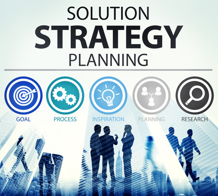 urban planning: Strategy Business Goals Solution Success Concept