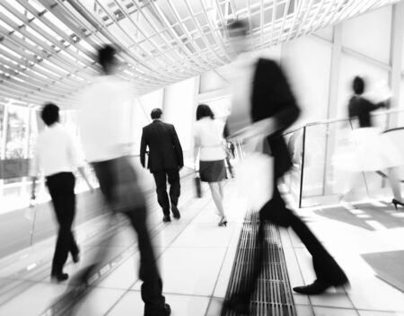 Hong Kong Business People Commuting Concept Stock Photo