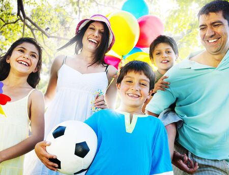 people happy: Family Happiness Parents Holiday Vacation Activity Concept