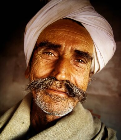 indigenous: Indigenous Senior Indian Man Looking at the Camera Concept