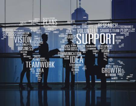 vision futuro: Voluntarios Futuro Expertise futuros Ideas Planes de Crecimiento Concepto