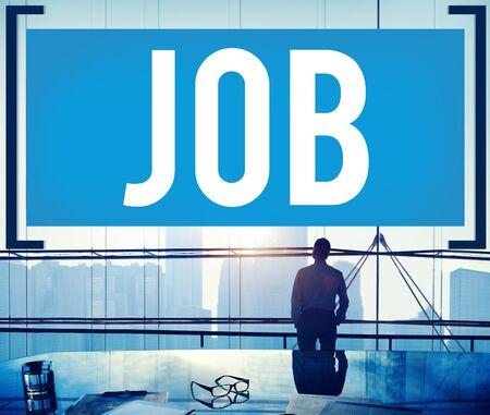 puesto de trabajo: Trabajo Empleo Formacion Ocupación Objetivos Concepto Foto de archivo