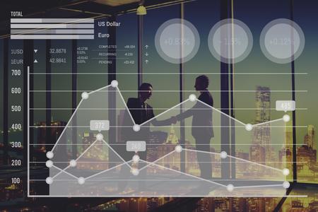 그래프 성장 금융 주식 시장 환율 분석 개념