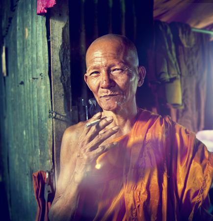 traditonal: Monk Monastry Potrait Traditonal Culture Characters Concept Stock Photo