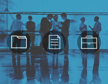 urban planning: Business Office Folder Files Document Concept Stock Photo