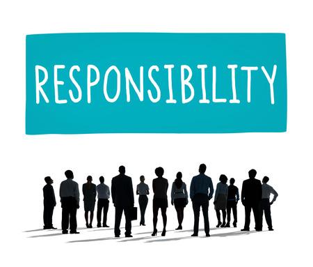 obligation: Responsibility Obligation Duty Roles Job Concept Stock Photo