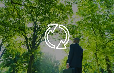refrescar: Refresh Renovar Icono Flecha Concepto Ciclo