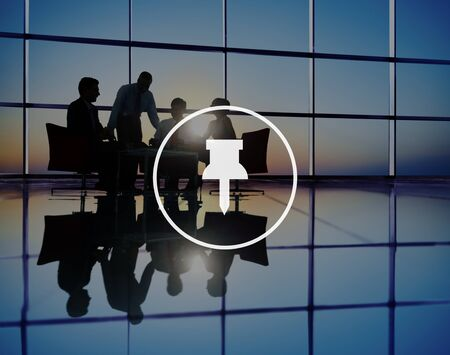 thumbtack: Business Working Thumbtack Pinned Note Office Stock Photo