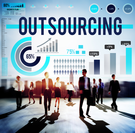 urban decline: Outsourcing Recruitment Human Resource Hiring Concept