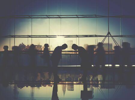 corporate culture: Business People Respect Japanese Culture Corporate Travel Concept