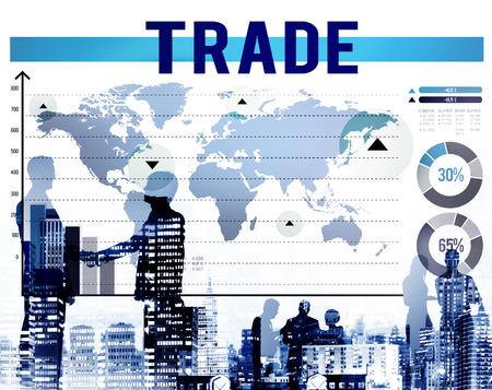 commodity: Trade Commerce Commodity Merchandise Sale Concept Stock Photo