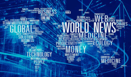 world news: World News Data Ecology Investment maket Medicine Concept