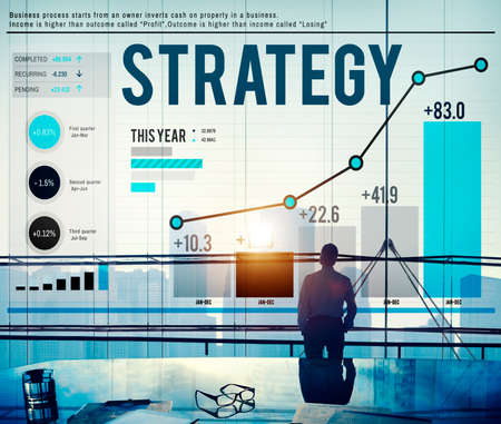 objectives: Strategy Planning Plan Process Directing Growth Concept Stock Photo