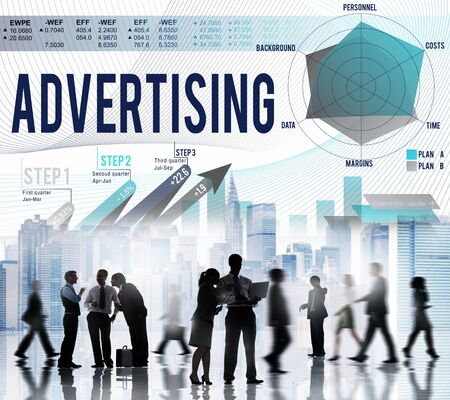 publicity: Advertising Marketing Promotion Publicity Concept Stock Photo