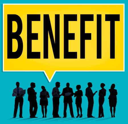 perks: Benefit Charity Income Profit Value Wages Welfare Concept