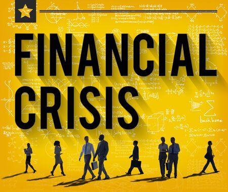 financial crisis: Financial Crisis Accounting Banking Economics Concept Stock Photo