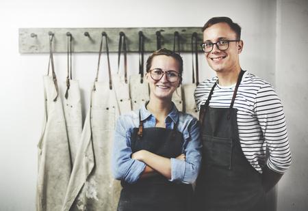 Couple Partner Craftsman intérieur Concept de travail Banque d'images