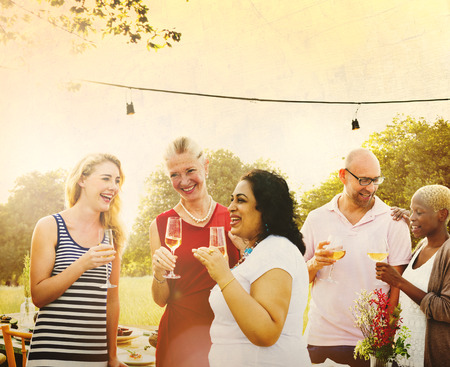 neighbors: Diverse Neighbors Drinking Party Yard Concept