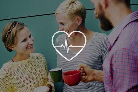 signos vitales: Heartbeat Vida Salud Salud cardiograma Concepto