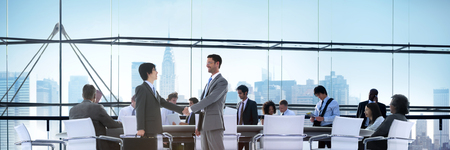 teamwork business: Business People Brainstorming Partnership Teamwork Support Concept