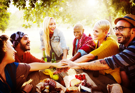 youth culture: Team Friendship Leisure Vacation Togetherness Fun Concept