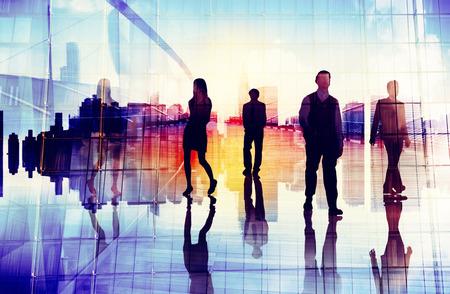 urban scene: Business People Urban Scene Organization Team Concept Stock Photo