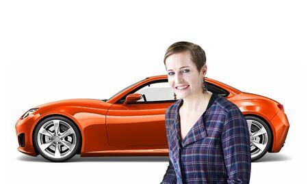motoring: Car Vehicle Transportation 3D Illustration Concept