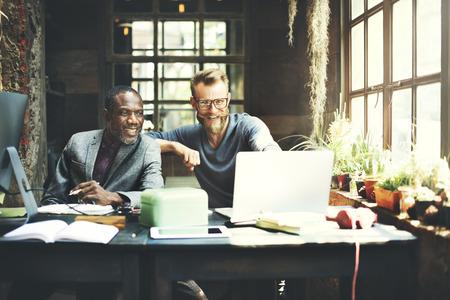 determine: Businessmen Working Determine Workspace Lifestyle Concept