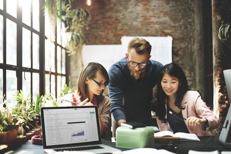 Business Team Meeting brainstormen Working Concept