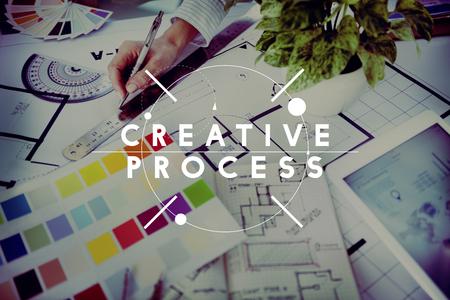 創造的なプロセスの創造性技術革新のインスピレーション コンセプト 写真素材
