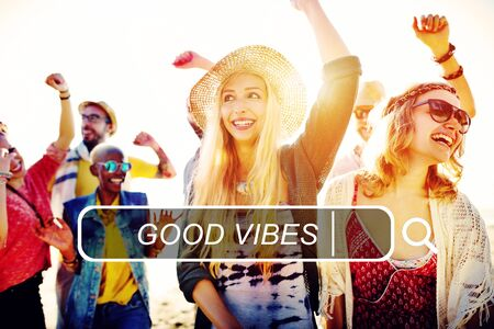 good: Good Vibes Feelings Positive Good Concept Stock Photo