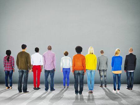 Rückansicht Zusammenhalt Nehmens Team Konzept