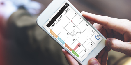 internet search: Calender Remind Communication Data Information Concept