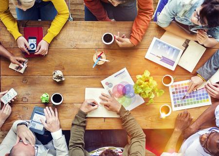 Group of Multiethnic Designers Brainstorming Concept
