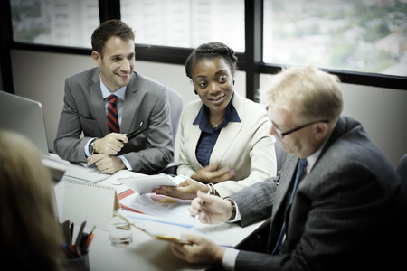 african business: Business Team Meeting Discussion Connection Concept Stock Photo