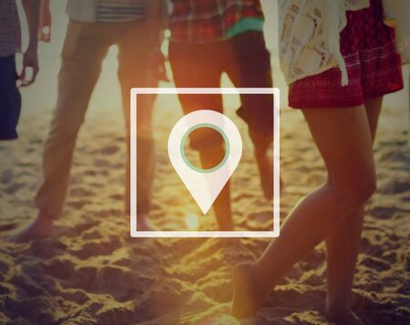 recreational pursuit: Check In Location Travel Journey Concept Stock Photo