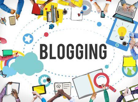 BLOG: Blogging Blog Internet Media Networking Social Concept