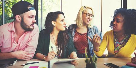 Ontmoeting Talking Discussie brainstormen Communication Concept