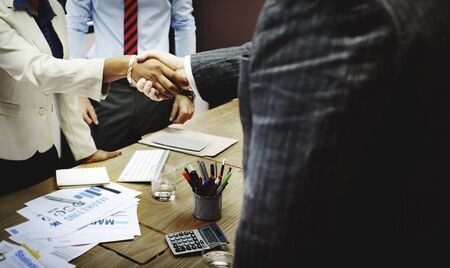 business marketing: Business People Meeting Corporate Handshake Greeting Concept