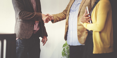 Business Team Partnership Greeting Handshake Concept